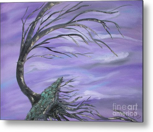 Perfect Storm Metal Print featuring the painting Perfect Storm by Sesha Lee