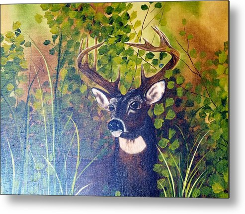 Wildlife Metal Print featuring the painting Pride by Mary Matherne
