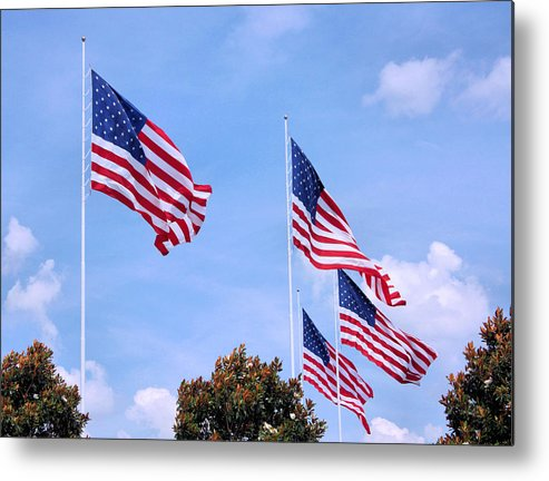 American Flag Metal Print featuring the photograph Southern Skies by Kristin Elmquist