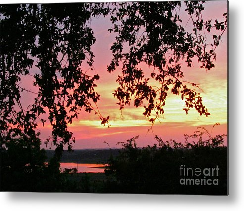 Sunset Metal Print featuring the photograph Sunset Over Canyon Lake by Randi Shenkman