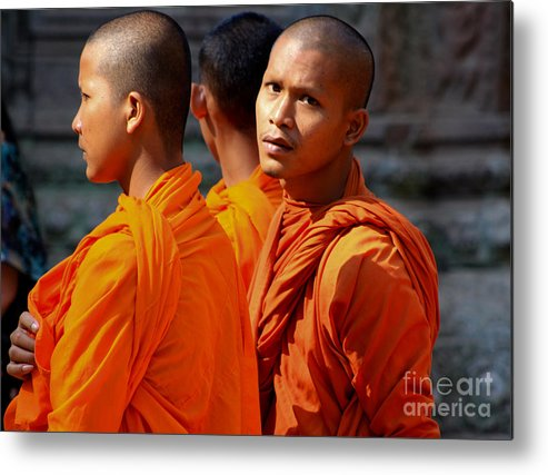 Cambodia Metal Print featuring the photograph The Look by Kim Vetten