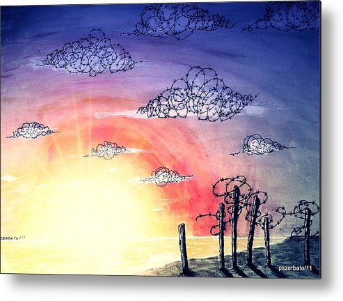The Pain Metal Print featuring the digital art The Pain Of Sky That Will Never Be Calm by Paulo Zerbato