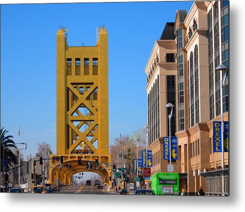 Old Town Sacramento Metal Print featuring the photograph Tower Bridge 4 by Barry Jones