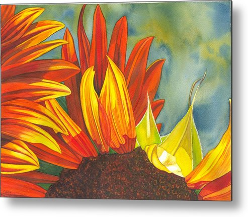Sunflower Metal Print featuring the painting Ray by Catherine G McElroy