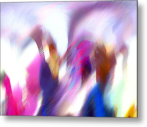 Digital Media Metal Print featuring the painting Color Dance by Anil Nene