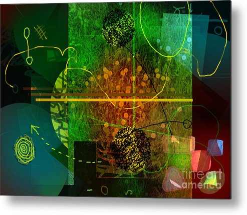 Colorscope Metal Print featuring the digital art Colorscope by Andy Mercer