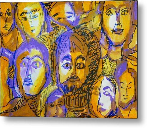 Abstract Metal Print featuring the painting One Drunken Afternoon by Judith Redman