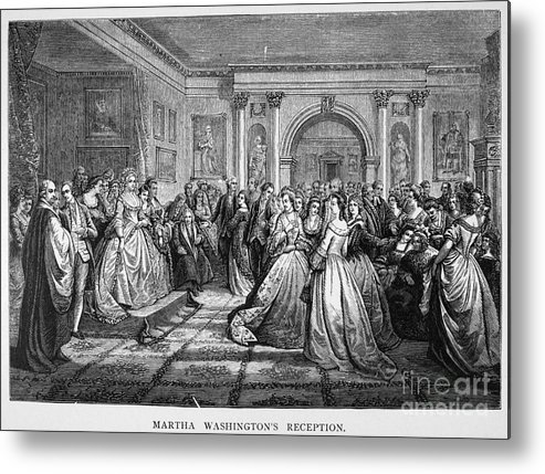 18th Century Metal Print featuring the photograph Washington Reception by Granger