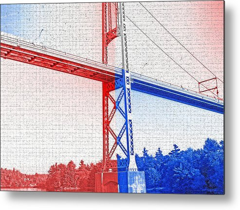 Bridges Metal Print featuring the photograph 1000 Island International Bridge 2 by Steve Ohlsen