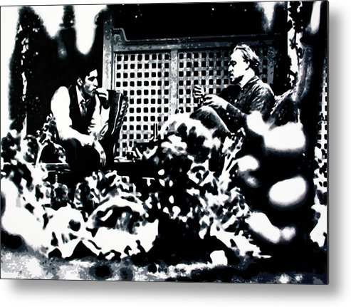 Ludzska Metal Print featuring the painting The Godfather by Luis Ludzska