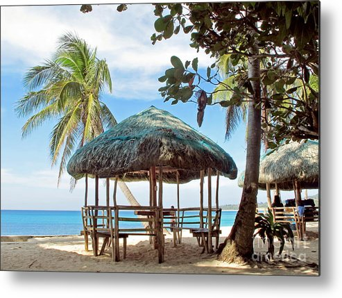 Architecture Metal Print featuring the photograph A Beach Cottage by Tony Magdaraog