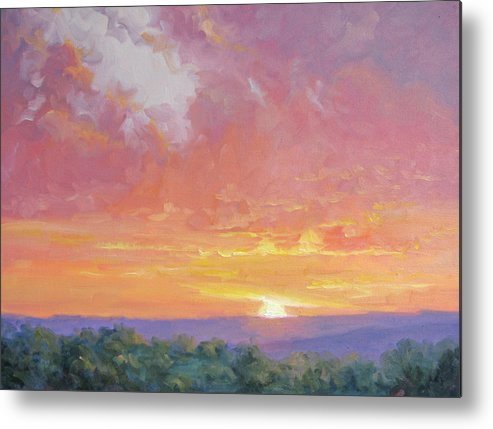 Sunrise Metal Print featuring the painting A New Dawn by Bunny Oliver