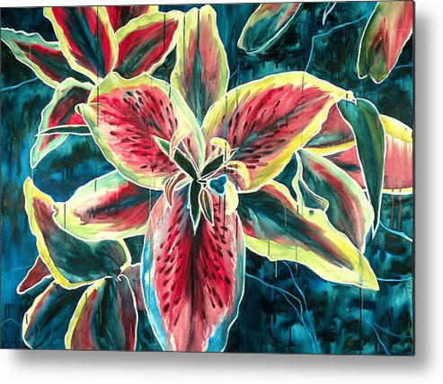 Floral Painting Metal Print featuring the painting A New Day by Jennifer McDuffie