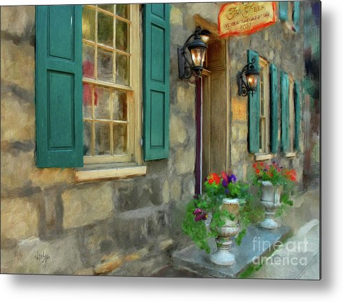 Shop Metal Print featuring the digital art A Victorian Tea Room by Lois Bryan