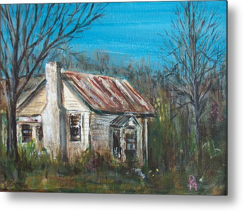 House Metal Print featuring the painting Abandoned by Pete Maier