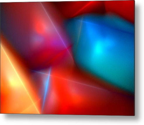 Digital Painting Metal Print featuring the digital art Abstract 060110 by David Lane