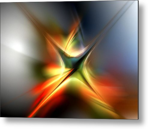 Digital Painting Metal Print featuring the digital art Abstract 060310a by David Lane