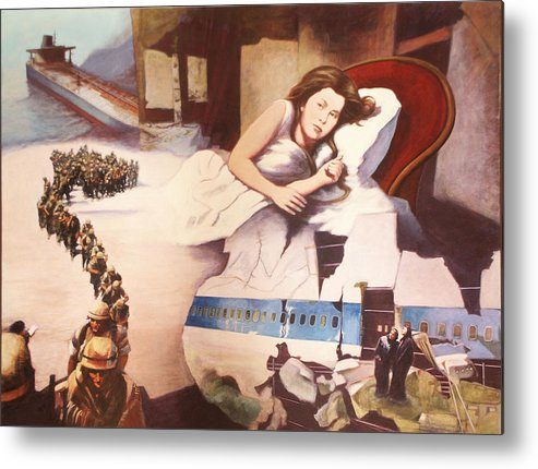 Lewis Caroll's Alice Metal Print featuring the painting After Alice by James LeGros