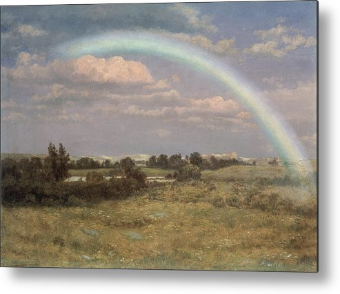 After The Storm Metal Print featuring the painting After The Storm by Albert Bierstadt