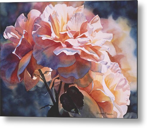Rose Metal Print featuring the painting Afternoon Rose by Sharon Freeman