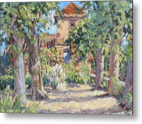 France Metal Print featuring the painting Afternoon Tea by L Diane Johnson