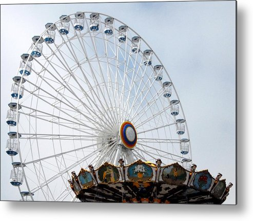 Larger Ferris Wheels Metal Print featuring the photograph Amusement 17 by Joyce StJames