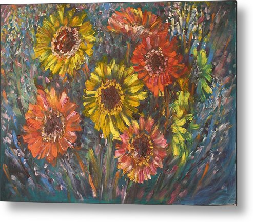 Daisy Metal Print featuring the painting Applause by Wendy Chua