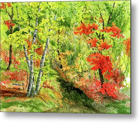 Autumn Metal Print featuring the painting Autumn Fun by Mary Tuomi