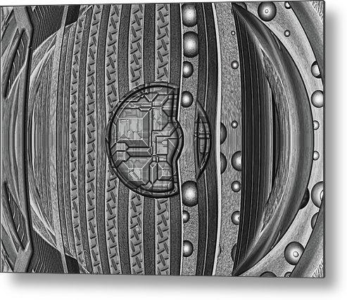 Abstract Metal Print featuring the digital art Backbeat by Wendy J St Christopher