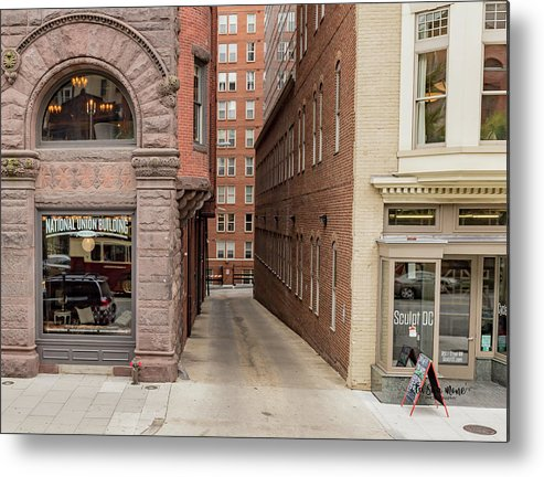 Historic Metal Print featuring the photograph Baptist Alley by Tameko Cox