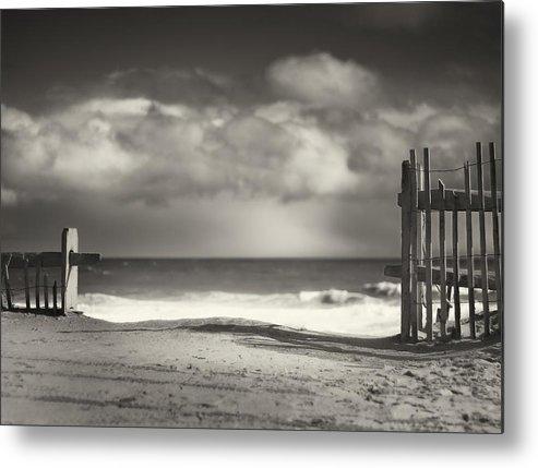 Beach Metal Print featuring the photograph Beach Fence - Wellfleet Cape Cod by Dapixara Art