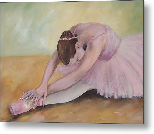 Dancer Metal Print featuring the painting Before The Ballet by Torrie Smiley