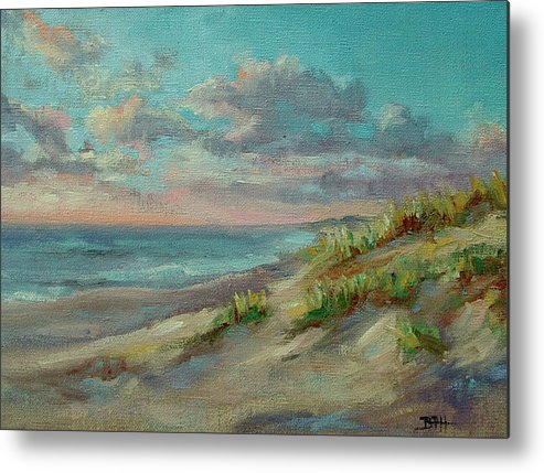 Nauset Beach Metal Print featuring the painting Before The Crowds by Barbara Hageman