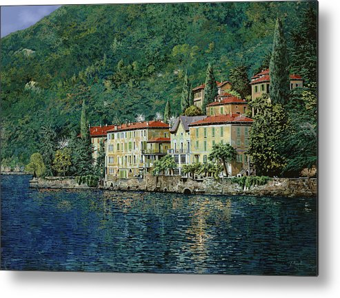 Landscape Metal Print featuring the painting Bellano On Lake Como by Guido Borelli