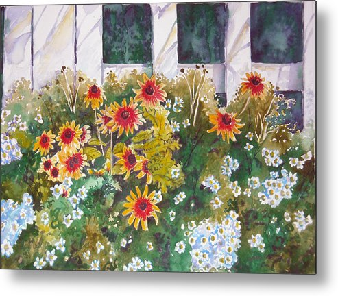 Black-eyed Susans Metal Print featuring the painting Black-eyed Susans by Michael Prout