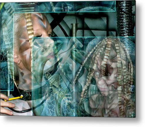 Brain Metal Print featuring the painting Brain Scan Automation by Leigh Odom