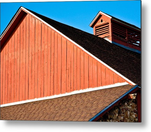 Americana Metal Print featuring the photograph Bright Red Barn by Marilyn Hunt