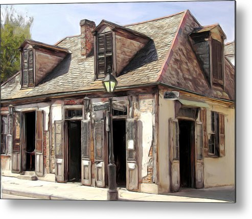 Blacksmith Metal Print featuring the painting Burbon Street Blacksmith by Russell Michael