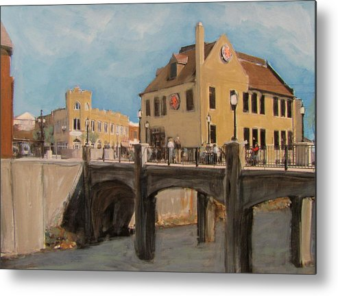 Milwaukee Metal Print featuring the mixed media Cafe Hollander 1 by Anita Burgermeister