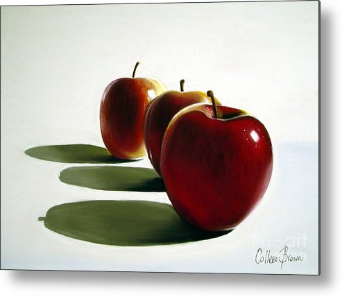 Still Life Metal Print featuring the painting Candy Apple Red by Colleen Brown