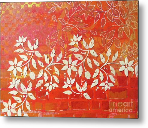 Contemporary Art Metal Print featuring the mixed media Cascade by Desiree Paquette
