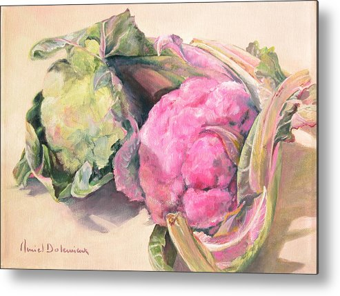 Flower Metal Print featuring the painting Choux by Muriel Dolemieux