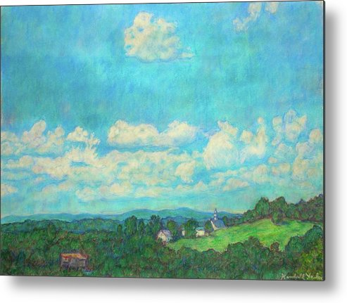 Landscape Metal Print featuring the painting Clouds Over Fairlawn by Kendall Kessler