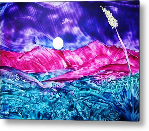 Bold Metal Print featuring the print Colorful Desert by Melinda Etzold