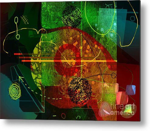 Abstract Metal Print featuring the digital art Colorscope by Andy Mercer