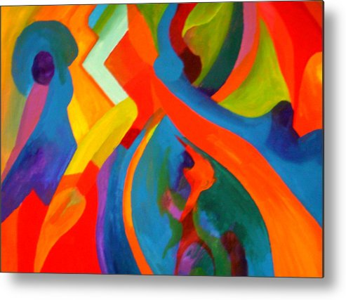 Metal Print featuring the painting Contemplation by Peter Shor