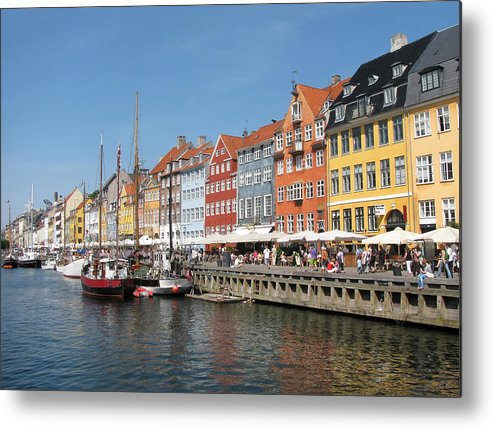 Architecture Metal Print featuring the photograph Copenhagen Harbor by Mary Lane