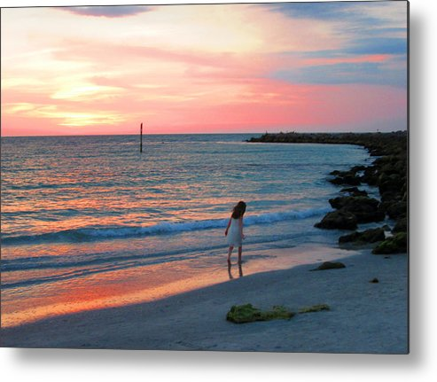 Sunset Metal Print featuring the photograph Cotton Candy Skies by Elyza Rodriguez