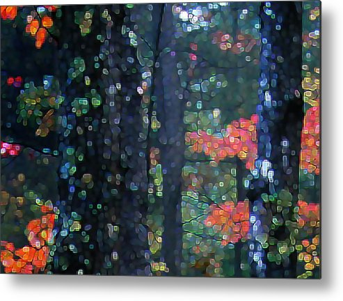 Landscape Metal Print featuring the digital art Deep Woods Mystery by Dave Martsolf