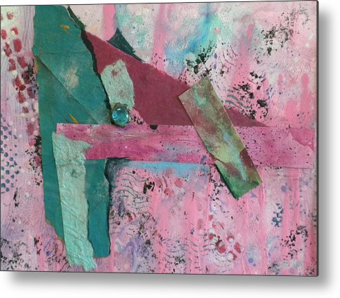 Mixed Media Metal Print featuring the mixed media Delight by Helen Hammerman